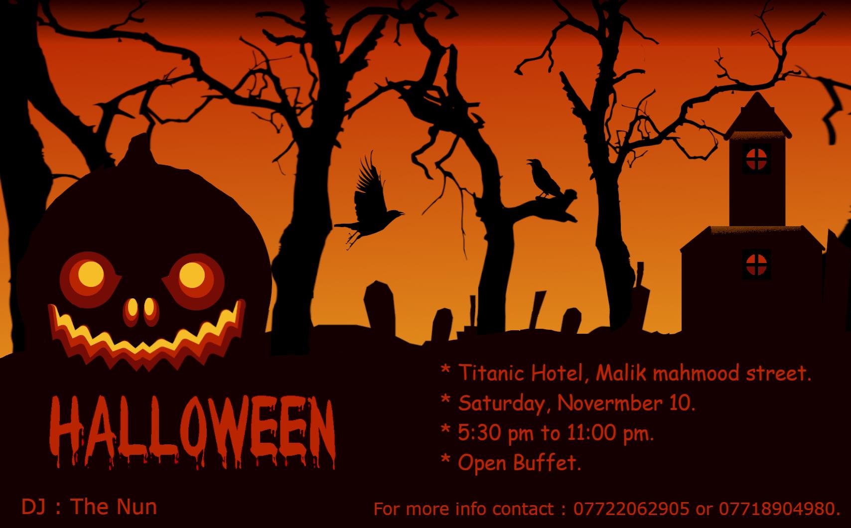 CSMS Grade 9 – 12   Halloween party