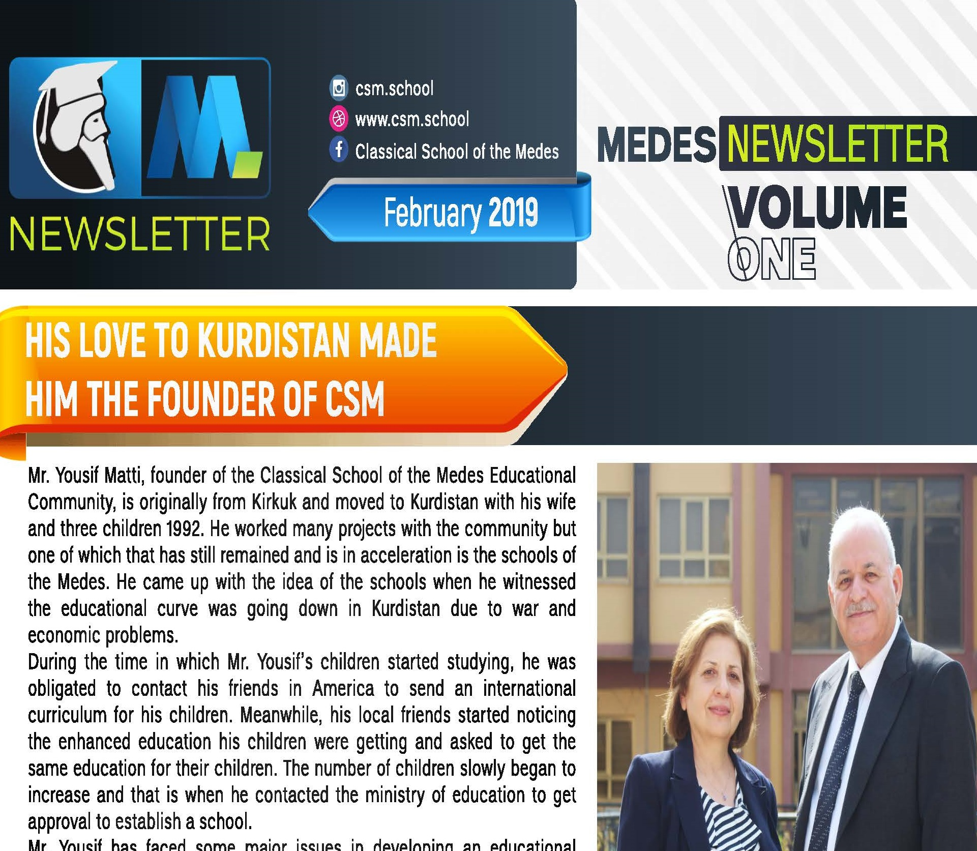 March 2019 Newsletter for CSM Hawler