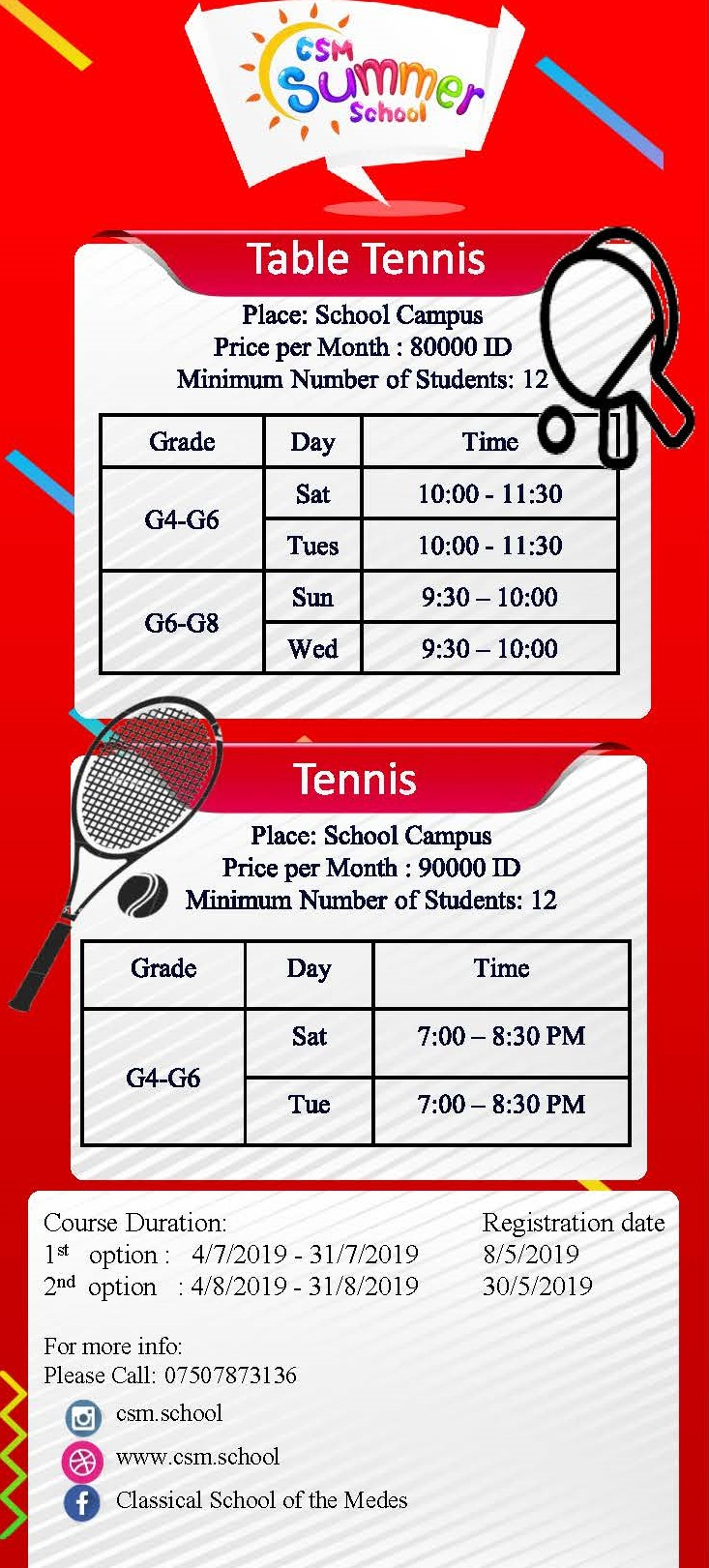 Duhok Summer School Program